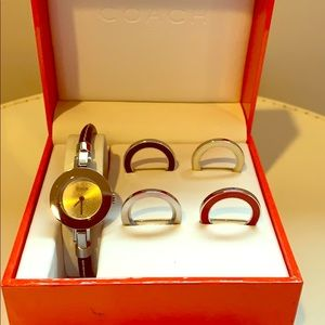 Chic Coach Watch with Interchangeable Bezels!